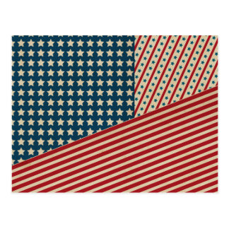 Stars and Striped Triangle Postcards