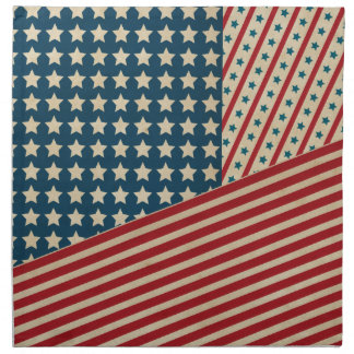Stars and Striped Triangle Printed Napkins