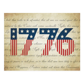 Stars and Stripes 1776 Independence Day Postcard