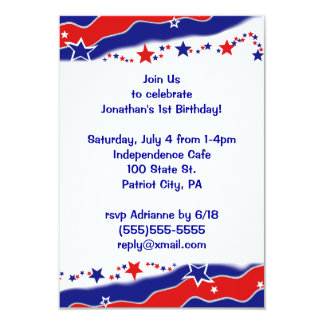 Stars and Stripes 3.5x5 Paper Invitation Card