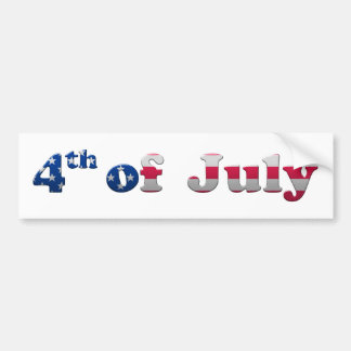 Stars and Stripes 4th of July Bumper Sticker