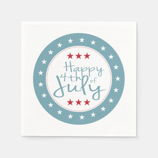 Stars and Stripes 4th of July Paper Napkin Set