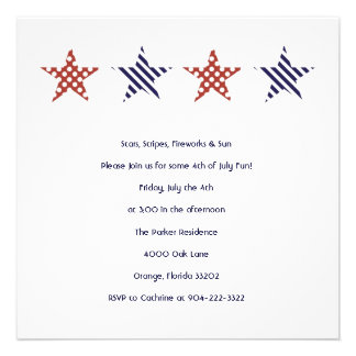 Stars and Stripes 4th of July Party Invitation