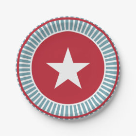 Stars and Stripes 4th of July PartyPaper Plate 7 Inch Paper Plate