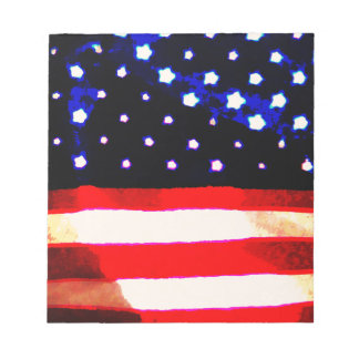 Stars and Stripes Abstract Note Pad