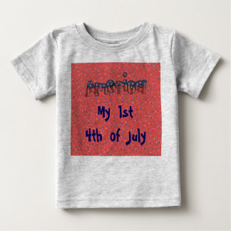 Stars and Stripes America 1st 4th of July Baby Baby T-Shirt
