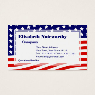 Stars and Stripes American Flag July 4th Business Card