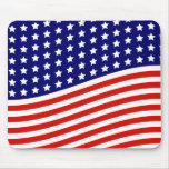Stars and Stripes American Flag July 4th Mouse Pad