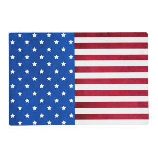 Stars And Stripes-American Flag Placemat