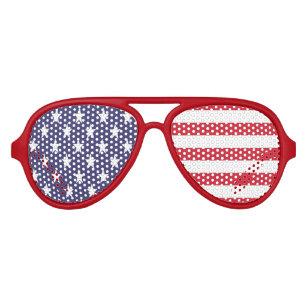 713d4630fe2 Stars And Stripes American USA Flag Aviator Sunglasses