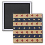 Stars and Stripes Americana 2 Inch Square Magnet