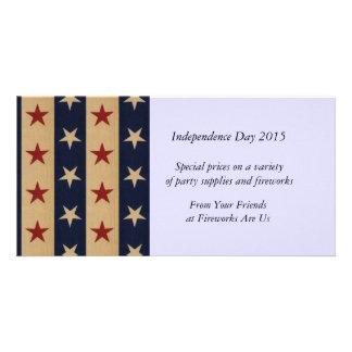 Stars and Stripes Americana Photo Card