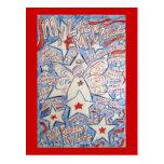 Stars and Stripes Angel Postcard