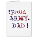 Stars and Stripes Army Dad Tshirts and Gifts Card