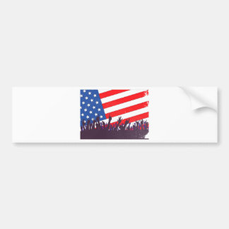 Stars And Stripes Audience Bumper Sticker