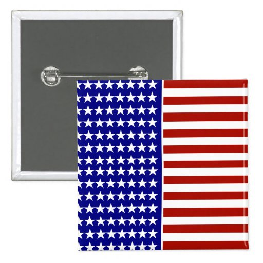 Stars and Stripes Background 2 Inch Square Button