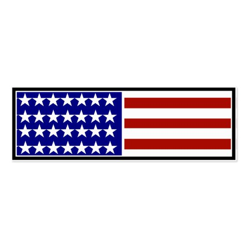 Stars and Stripes Background Business Card Templates