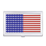 Stars and Stripes Background Business Card Holders