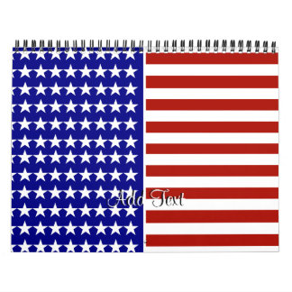 Stars and Stripes Background Calendar