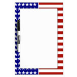 Stars and Stripes Background Dry Erase Whiteboards