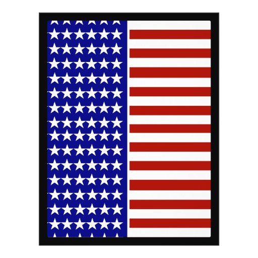 Stars and Stripes Background Full Color Flyer