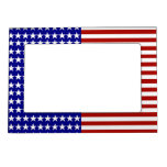 Stars and Stripes Background Magnetic Picture Frames