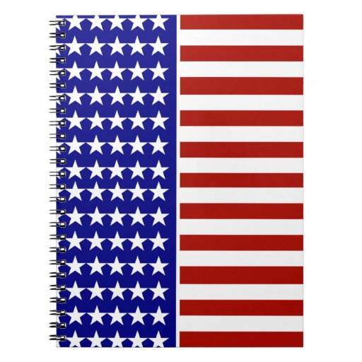 Stars and Stripes Background Spiral Note Books