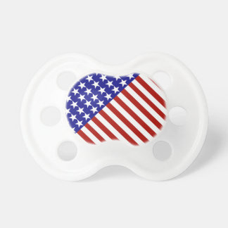 Stars and Stripes Background Baby Pacifiers
