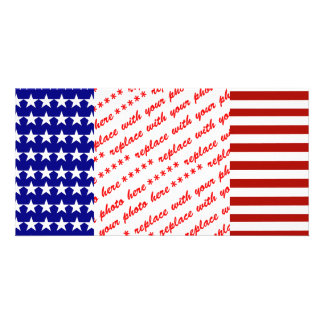 Stars and Stripes Background Photo Greeting Card
