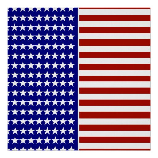 Stars and Stripes Background Poster