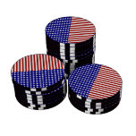 Stars and Stripes Background Set Of Poker Chips