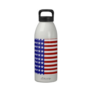 Stars and Stripes Background Water Bottle