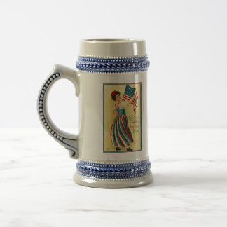 Stars and Stripes Beer Stein