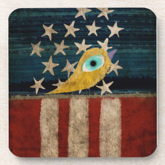 Stars and stripes Bird Cork Coaster