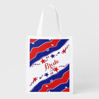 Stars and Stripes BRIDE Reusable Grocery Bag