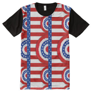 Stars and Stripes Bunting All-Over-Print Shirt