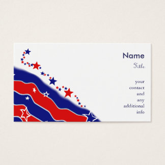 Stars and Stripes Business Card