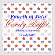 Stars and Stripes Candy Buffet Sticker