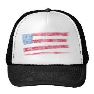 Stars and Stripes Cap Trucker Hat