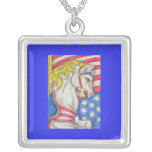 Stars and Stripes Carousel Horse Necklaces