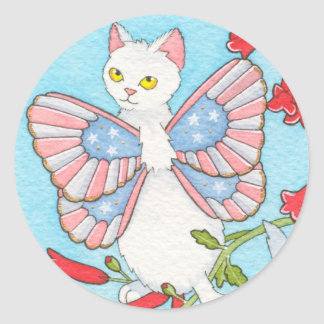 Stars and stripes catterfly stickers