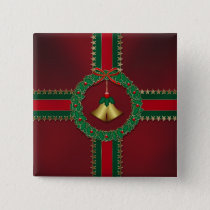 Stars and Stripes Christmas Button