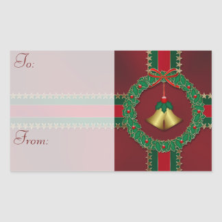 Stars and Stripes Christmas Gift Tag Stickers