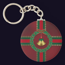 Stars and Stripes Christmas Keychain