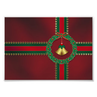 Stars and Stripes Christmas Photo Print