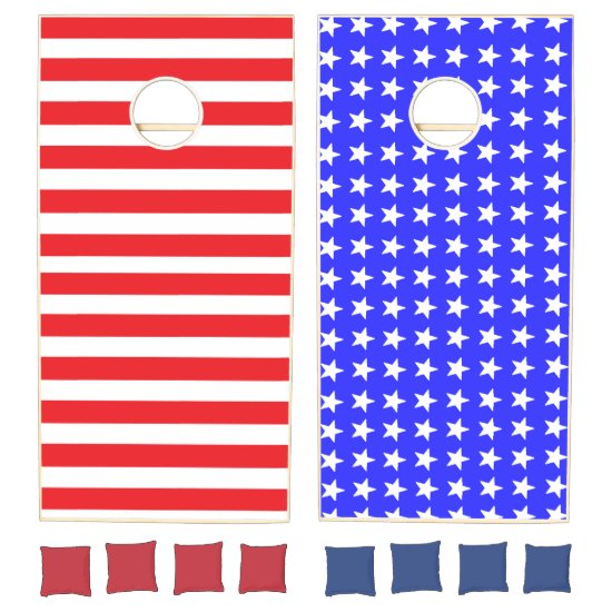"""Stars and Stripes"" Cornhole Set"