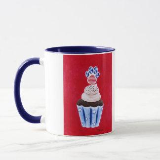 Stars and Stripes Cupcake for Animal Lovers Mug