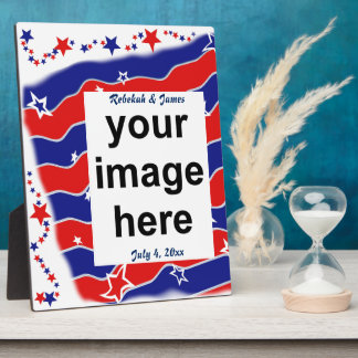 Stars and Stripes Custom Photo Plaque