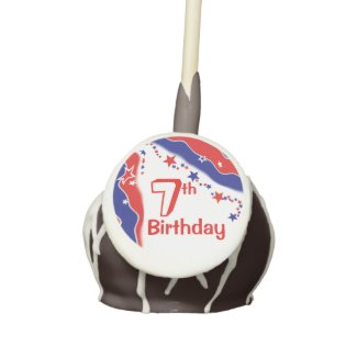 Stars and Stripes CUSTOM SEVENTH BIRTHDAY Cake Pops
