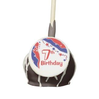 Stars and Stripes CUSTOM SEVENTH BIRTHDAY Cake Pops